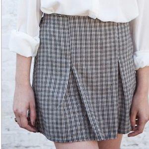 Brandy Melville plaid pleated kaitlee mini skirt